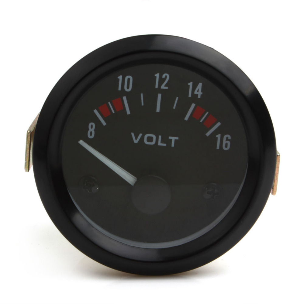 Newest Universal Voltmeter Gauge Meter 8-16V Racing Car 2inch volt Gauge Volts Gauge Meter 52mm InstrumentNewest Universal Voltmeter Gauge Meter 8-16V Racing Car 2inch volt Gauge Volts Gauge Meter 52mm Instrument