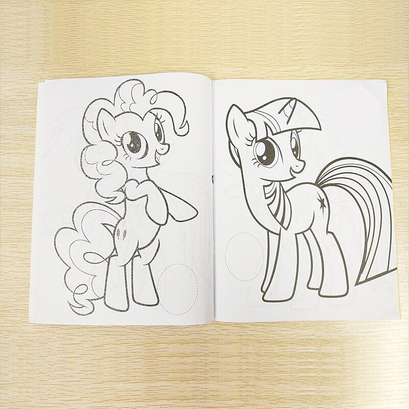 20x27 Cm 16 Sayfa Pony Boyama Kitap çıkartması Kitap çocuk çocuk