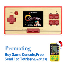 Free Shipping hot sale 2.6 Inch Retro Handheld Game Console Portable video Game Console Classic Free 600 games NES gift for kid(China)