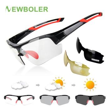 e4a0cacb88 NEWBOLER 3 lentes fotocromáticos gafas de Ciclismo de polarizadas de los  hombres al aire libre de