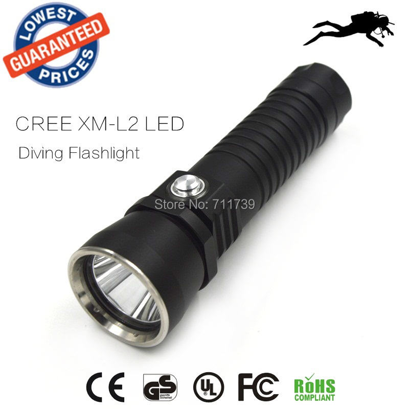 DV14 XM-L2 2000lm Diving Flashlight Underwater LED Diving Flashlights Lamp Dive Torch Light brand new dx1 cree xm l xml xm l2 15w 2000lm aluminum alloy waterproof led diving flashlight underwater lamp torch flash light