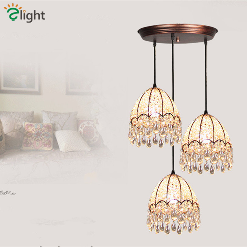 Modern Bohemia Hand Knitting Led Pendant Chandelier Lighting Lustre Crystal Iron Dining Room Led Hanging Light Led Chandeliers modern lustre crystal led chandelier lighting chrome metal living room led pendant chandeliers light led hanging lights fixtures