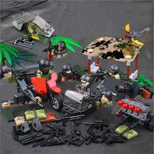 купить hot military WW2 army Special forces Middle East anti-terrorism war Building Blocks model Helicopter weapon bricks toys for gift недорого