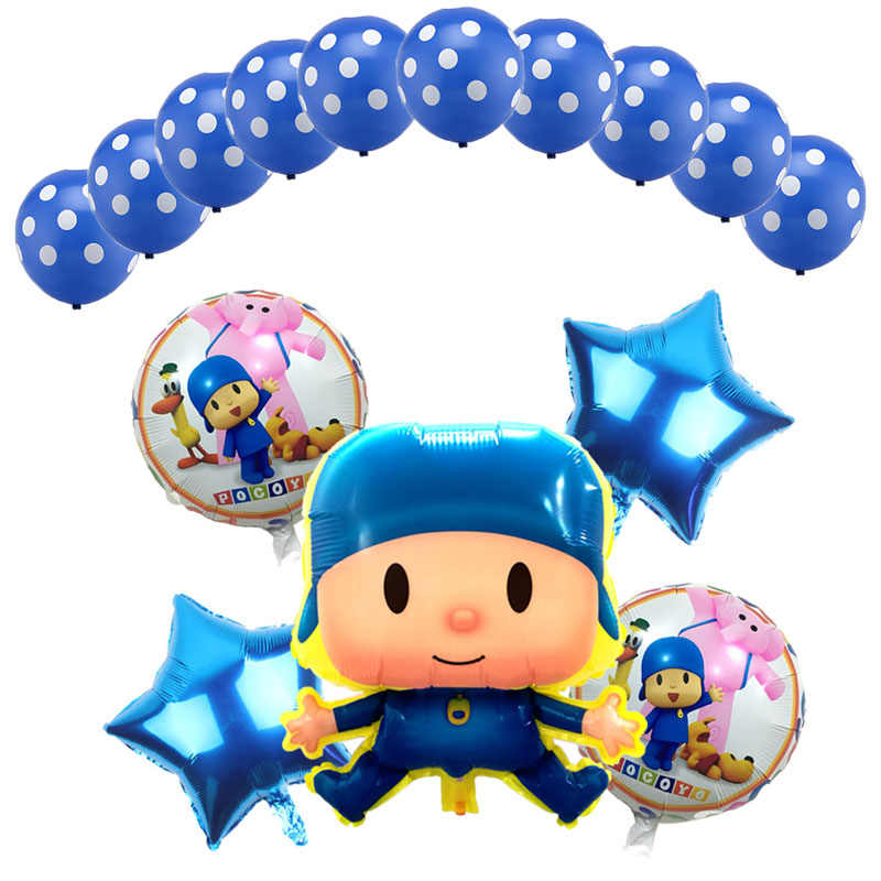 Sorte 15 pçs/lote Balão Para A Decoração Do Casamento da Festa de Aniversário Dos Desenhos Animados Pocoyo Pocoyo Balões Inflables Brinquedos Menino Festa Balões