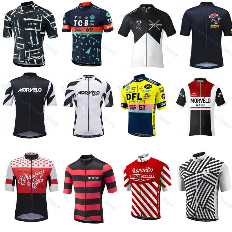 Morvelo summer short sleeve Quick drying Bike Clothing Racing bicycle Mountain MTB Pro team cycling jersey Ropa Ciclismo Hombre