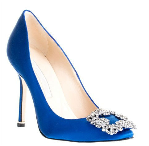 diamond high heels royal blue womens dress shoes white red bride wedding silk - Good Shoes&Bag Industry Co., Ltd store