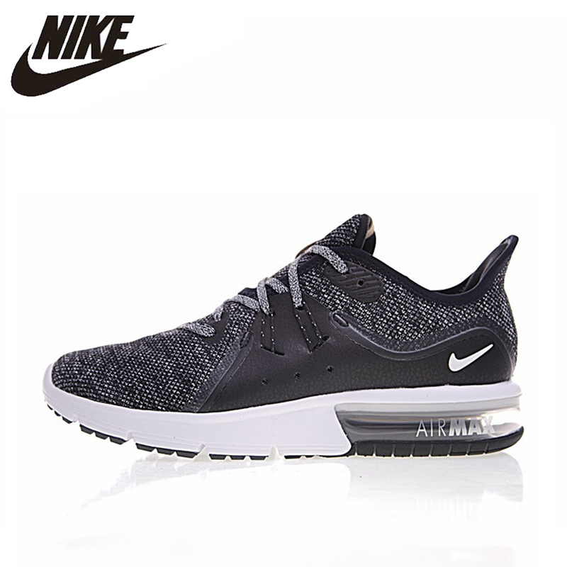 US $89.55 40% OFF|NIKE AIR MAX SEQUENT 3 Herren Cushion Running schuhe ,Dark Grey Gray ,Absorption Slip Wearable Breathable 921694 011 921694 008 in