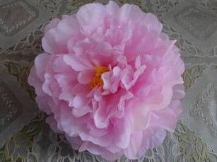 Искусственный Ткань 12 Слои 16 см большой пион роза цветок камелии головка для ювелирных изделий DIY Свадьба Рождество - Цвет: pink