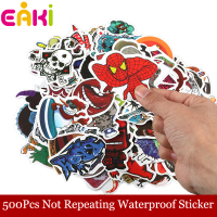 2017 New EAKI 500Pcs/Lot Not Repeating PVC Waterproof Sticker Funny Cartoon Toy For Children Gift DIY Decals Luggage Handbag Car