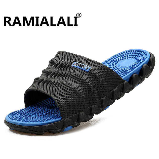 9ba719536b8f3a Ramialali Summer Slippers Men Casual Sandals Leisure Soft Slides Eva  Massage Beach Slippers Water Shoes Men s Sandals Flip Flop