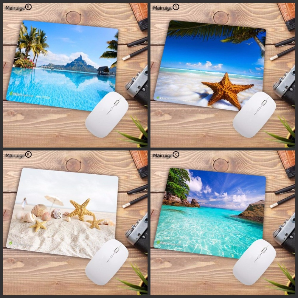 Mairuige Print Rubber Mousepads For Beach And Starfish Palm Mice Mat DIY Design Pattern Computer Gaming Cloud Mouse Pad