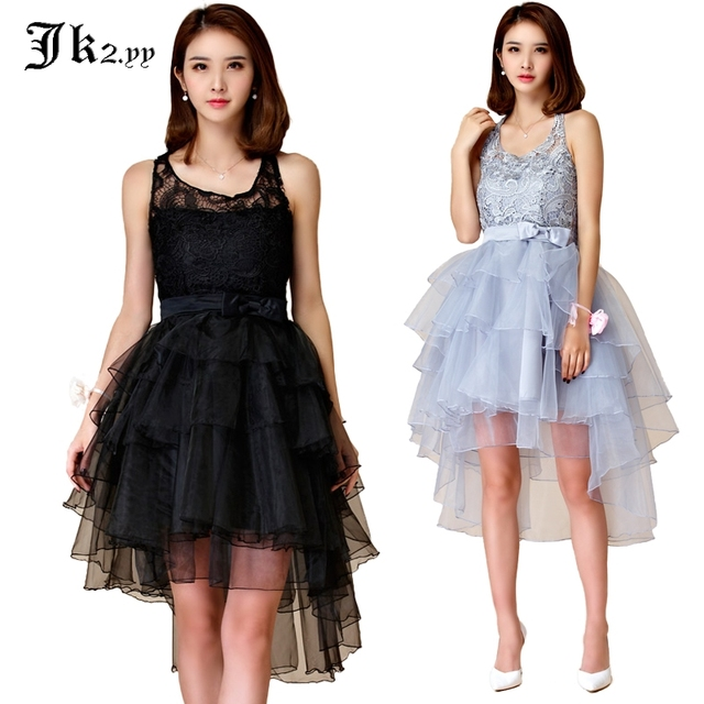 M-XXXL Sexy Women Ruffle Layers Party Dresses Floral Lace Up Halter Formal  Dress High-Low Trumpet Hem For Birthday Banquet 9874 be30b6164