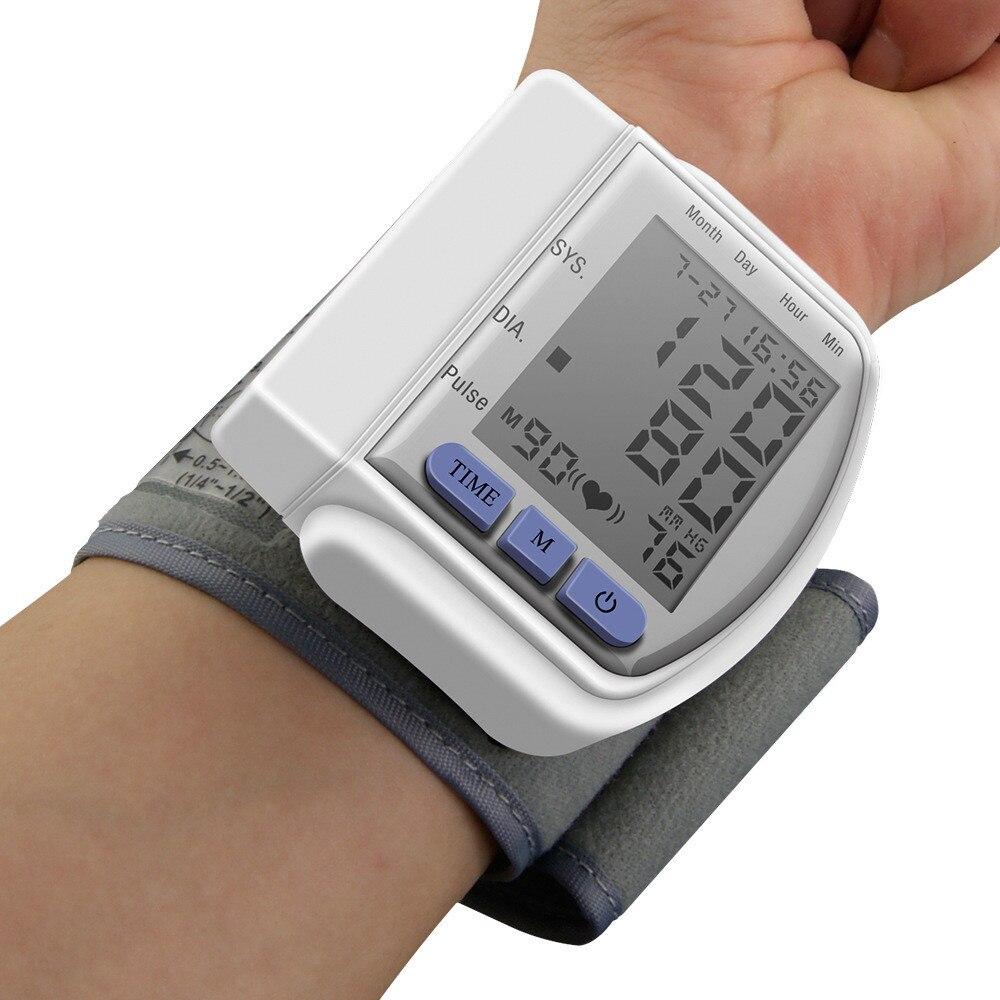 Digital LCD Automatic Wrist Watch Blood Pressure Monitor Heart Beat Rate Pulse Meter Measure Sphygmomanometer Home