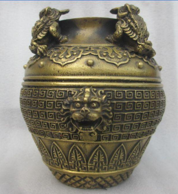 China's rare bronze decoration maxim golden cicada cans