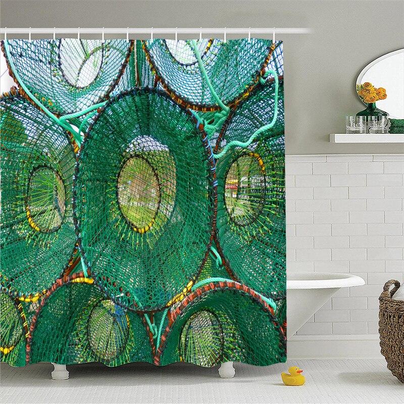 Fishingnet Waterproof Bathroom African Woman Shower Curtain Polyester Fabric Bathroom Curtain drop shipping AP17