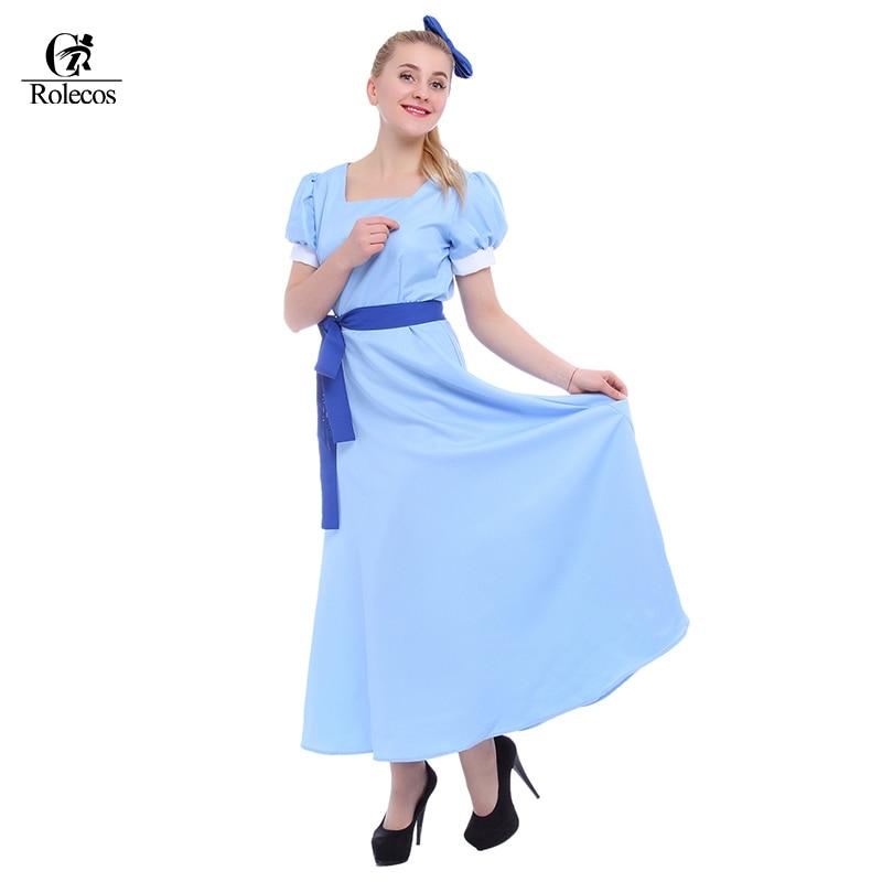 c17e17728d611 Rolecos Peter Pan Wendy Dress Rachel Cosplay Costumes Anime PeterPan  Clothing