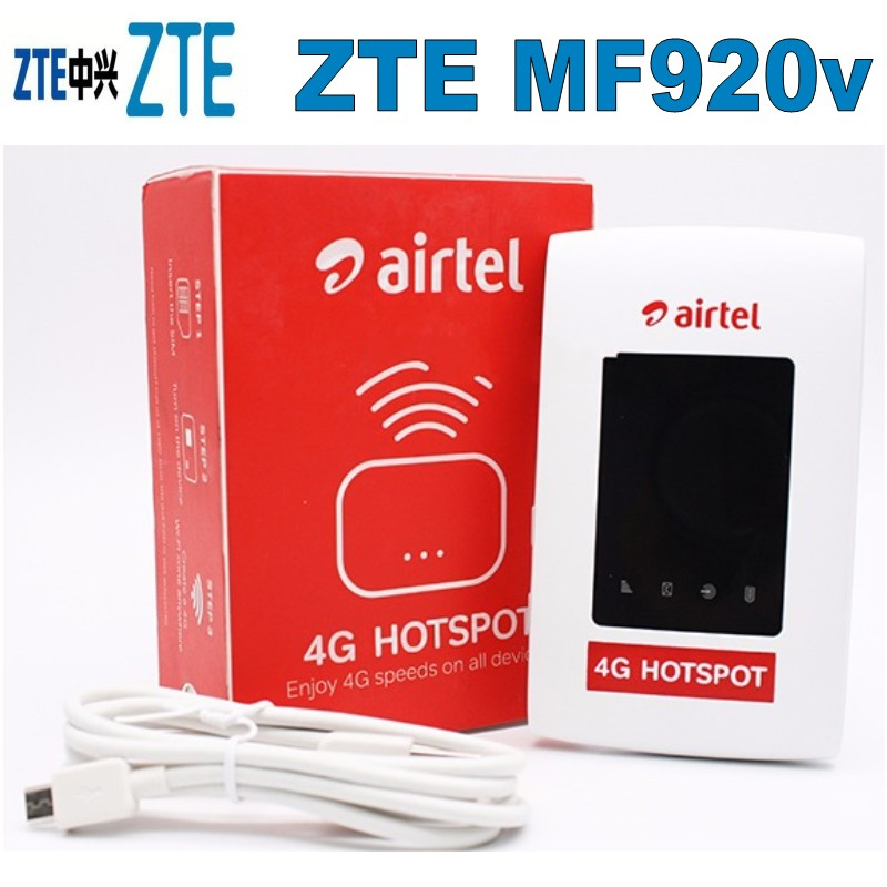 US $43 2 10% OFF|ZTE Mf920 Airtel MF920V 150mbps 4G LTE Mobile Wifi Router  Pocket Wifi Router-in 3G/4G Routers from Computer & Office on