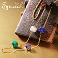 Special New Fashion Gold Plated Long Necklaces & Pendants Dice Rhinestones Maxi Necklace Jewelry Gifts for Women S1613N