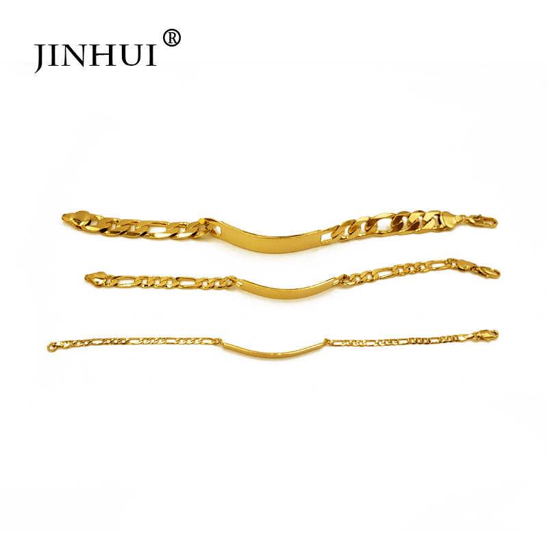 Jin Hui a la moda nueva pulsera de colores dorados de color africano para hombres, regalos de lujo para fiestas y fiestas, joyería brazalete de Dubai para amigos