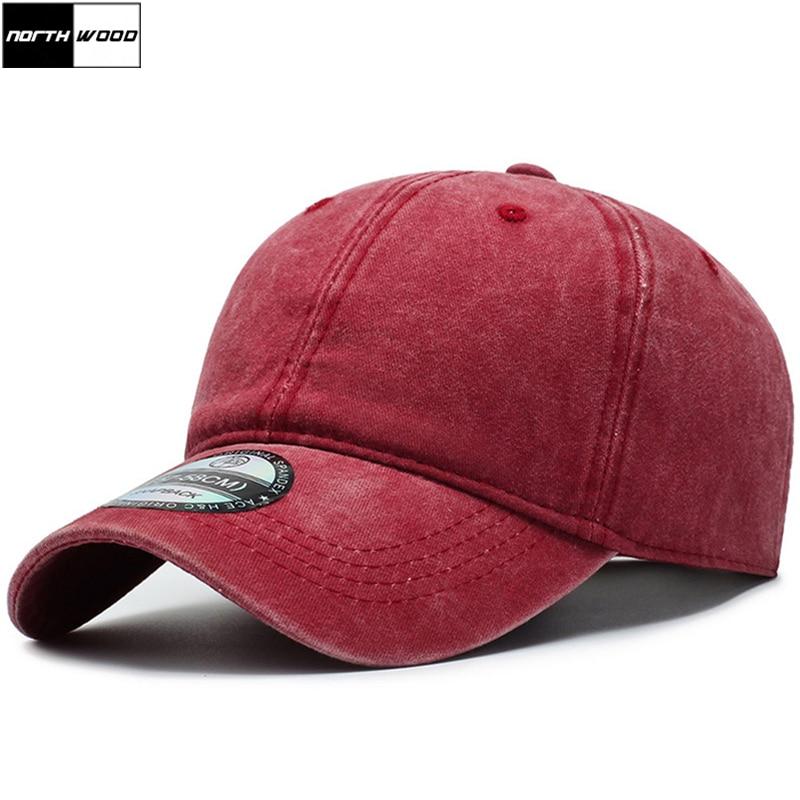 [NORTHWOOD] Classic Solid Women's Baseball Cap Men Vintage Washed Cotton Snapback Dad Hat Bone Trucker Cap Gorras Para Hombre