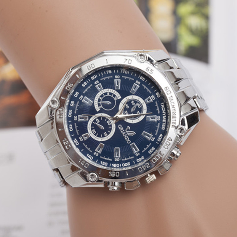 Luxury Brand Full Stainless Steel Men Quartz Dress Wrist watches Waterproof Retro Male Business Sports Watches Men's Gift AC045 longbo men and women stainless steel watches luxury brand quartz wrist watches date business lover couple 30m waterproof watches