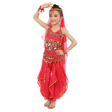 8 colors Belly Dance Costumes Kids New Style Child  Dancing Girls Bollywood Indian Performance Cloth Dress 7pcs/set