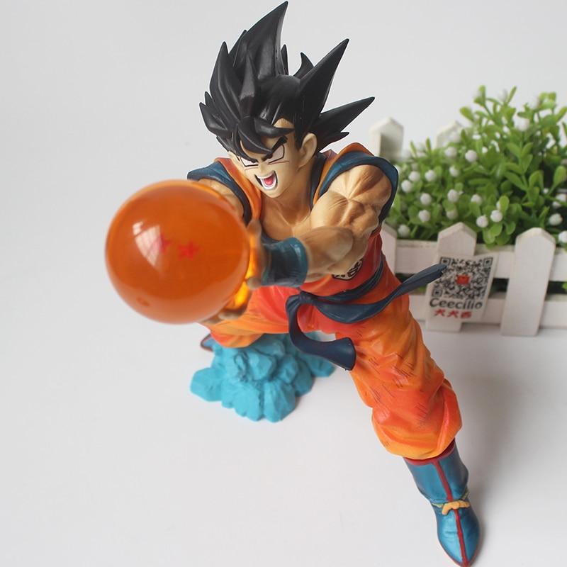 Classic Anime Dragon Ball Son Goku Action Figure kamehameha goku and ball Collection Model Toys anime dragon ball super saiyan 3 son gokou pvc action figure collectible model toy 18cm kt2841