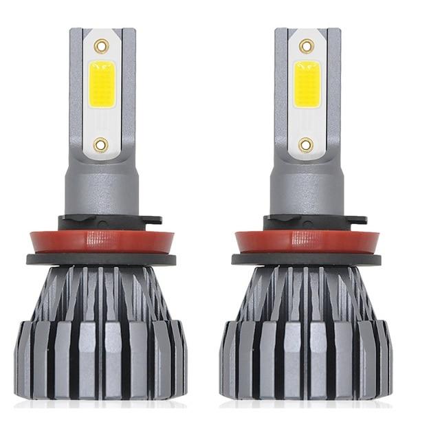 H7 Auto Lampe H1 H3 H4 H11 9005 9012 HB3 Led HB4 COB 9006 50 w 12 v 10000LM Voiture LED Phares Ampoule 6500 k 4300 k Projecteur Projecteur