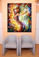 Canciones De Amor Pintado 100% A Mano Desnuda Chica Óleo de la Lona pinturas Decorativas Body Art Pictures Decoración de La Pared para Cafe Hotel Bar