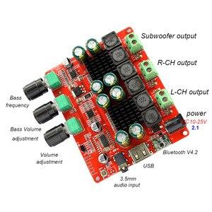 Image 3 - TPA3116 2.1 2 × 50 ワット 100 4.2 Bluetooth デジタルサブウーファーアンプ FM USB Hifi パワーアンプオーディオボード + リモコン F8 009