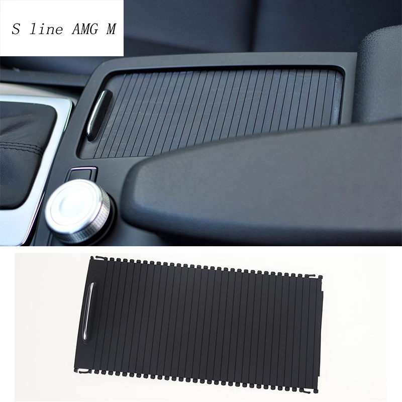 Car Styling Cup Holder Panel Center console cover Decoration Trim For Mercedes Benz W204 W212 C Class E Class Coupe Accessories car center console panel decoration cover trim carbon fiber car styling 2pcs for mercedes benz new e class w213 200 300 2016 17