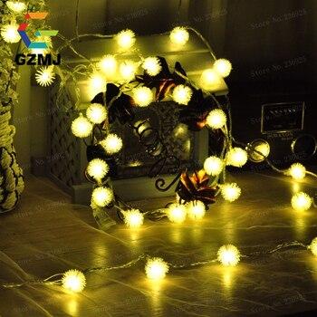 Luces De Navidad Blancas | Hogar Al Aire Libre 100 LED 10 M Cadena Luces De Hadas Boda Jardín Fiesta Navidad árbol Vacaciones Luz Evento Decoración De Hotel Lámpara