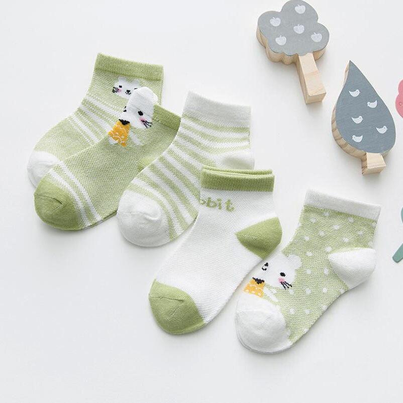 5 Pairs/lot Baby Socks Summer Mesh Breathable Cotton Infant Socks Children Kids Boys Girls Short Sock 0-8 Years 5