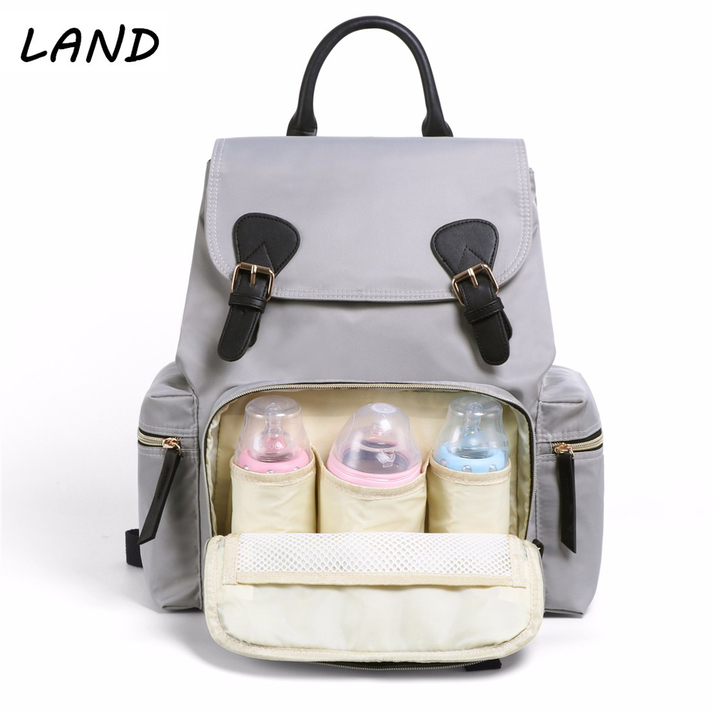 купить LAND Diaper Bag Backpack Fashion Mummy Maternity Bags for Mother Large Waterproof Baby Care Nappy Changing Bag Big for Stroller онлайн