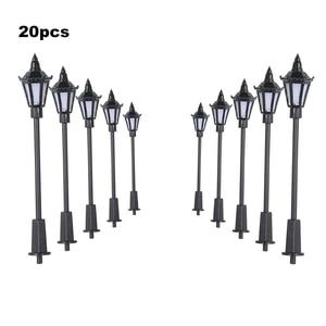 20Pcs White/Warm White Model Street Lights Led Lamp Lighting Layout Lamppost Train Garden Playground Scenery 3 Scales