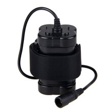 Waterproof 12000 mAh Rechargeable 8.4V 4x18650 Battery Pack with 8.4 V Charger for Light Torch