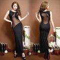 Party Evening Summer Black Split Dance Long Dress Racy Sleeveless Slit Ladies Dresses Women Sexy Lingerie Hot Erotic Underwear
