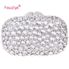 Fawziya Clutch Bag With Crystal Diamond Evening Purses Bling Rhinestone Crystal Clutch Bag