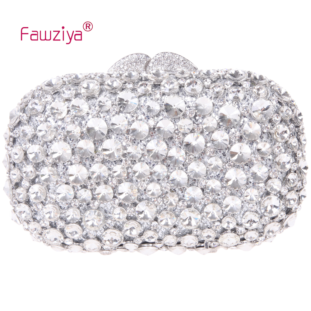 Fawziya font b Clutch b font Bag With Crystal Diamond Evening Purses Bling Rhinestone Crystal font