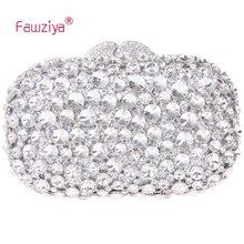 Fawziya font b Clutch b font Bag With Crystal Diamond Evening Purses Bling Rhinestone Crystal font