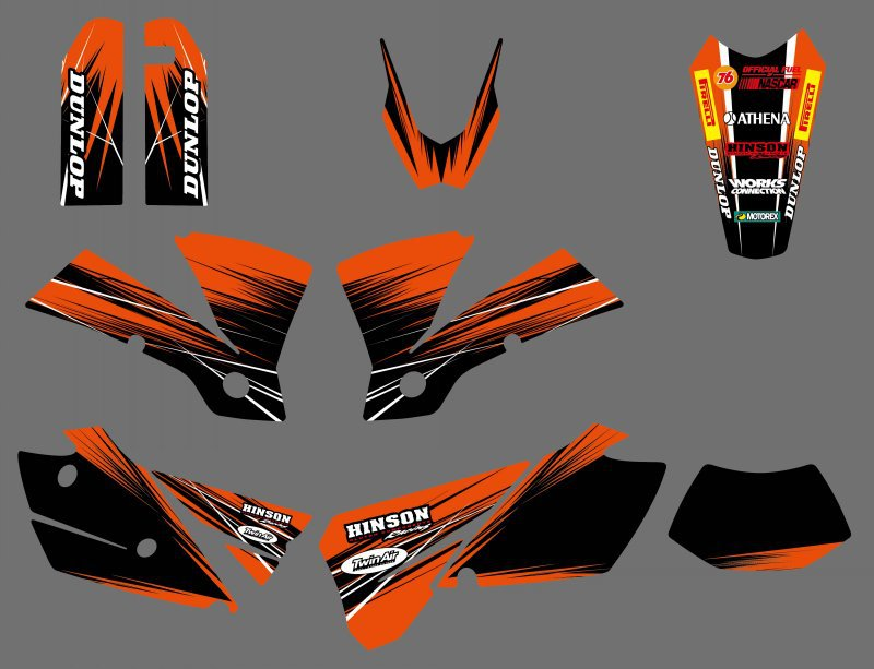 все цены на new style 0428 Orange to Black TEAM GRAPHICS & BACKGROUNDS DECALS Sticker For KTM EXC 125/200/250/300/400/450/525 2004 онлайн