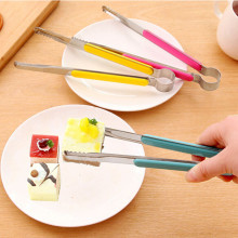 Stainless steel + silicone kitchen steak barbecue bread food clip Salad Buffet Serving Clip BBQ Tools Kitchen accessories
