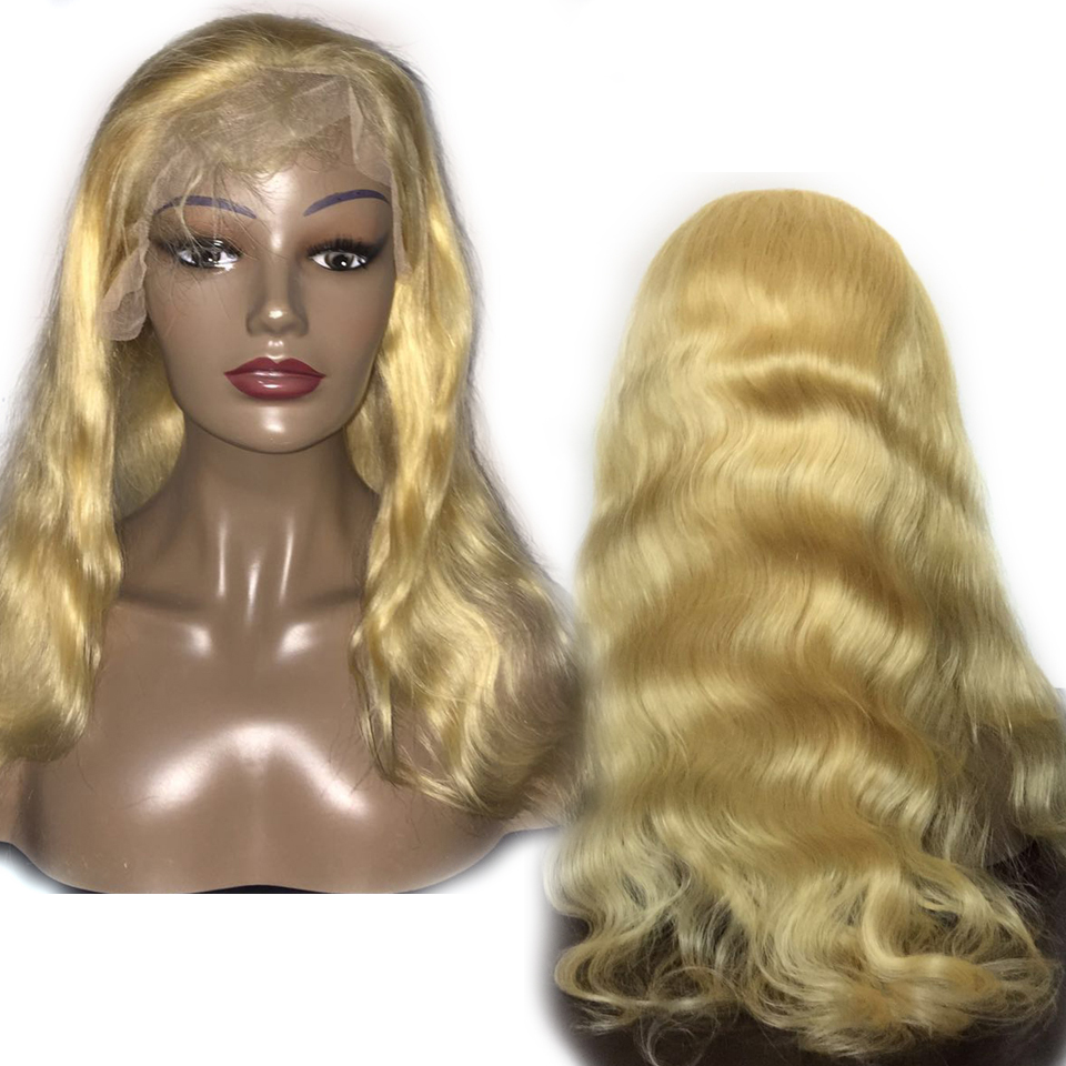613 Honey Blonde Lace Front Wig Pre Plucked Brazilian Wig Remy Body Wave Wig Glueless Lace Front Human Hair Wigs for Black Women image