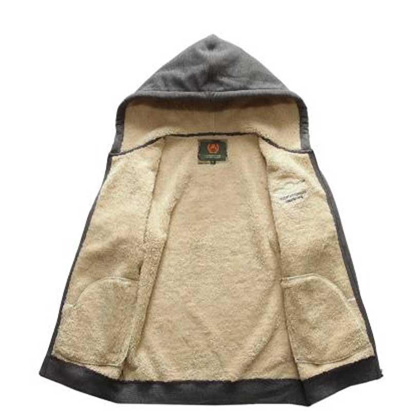 Зимний мужской комплект, флисовые толстовки, теплые толстые повседневные толстовки, комплекты из 2 предметов, мужская спортивная одежда, сп... - 4