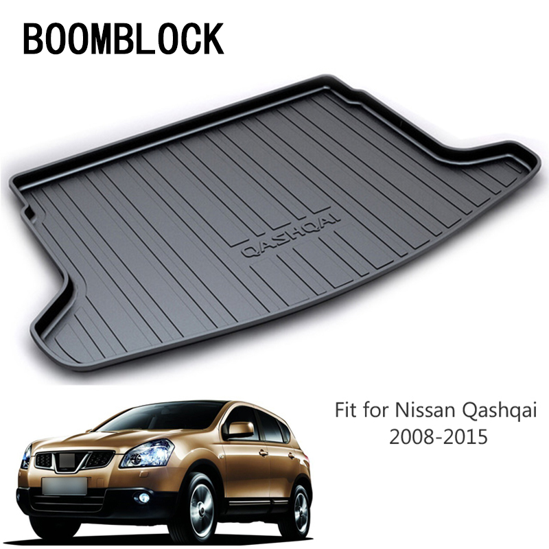 BOOMBLOCK For Nissan Qashqai 2008 2009 2010 2011 2012 2013 2014 2015 Waterproof Anti-slip Car Trunk Mat Tray Floor Carpet Pad for hyundai tucson 2006 2007 2008 2009 2010 2011 2012 2013 2014 waterproof anti slip car trunk mat tray floor carpet pad