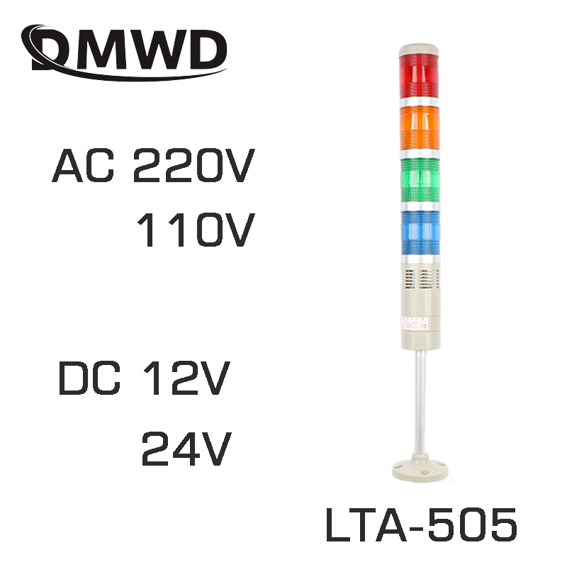 LED lamps DC12V/24V Safety Stack Lamp Flash Industrial Tower Signal warning Light LTA-505 Red green yellow blue 10pcs x red blue zone forklift danger zone warning light 10 80v 18w red safety zone warning led work lamp