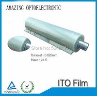 60CM X 100M Transparent Conductive ITO Film For Flexible Solar Cell And El Panel El Backlight