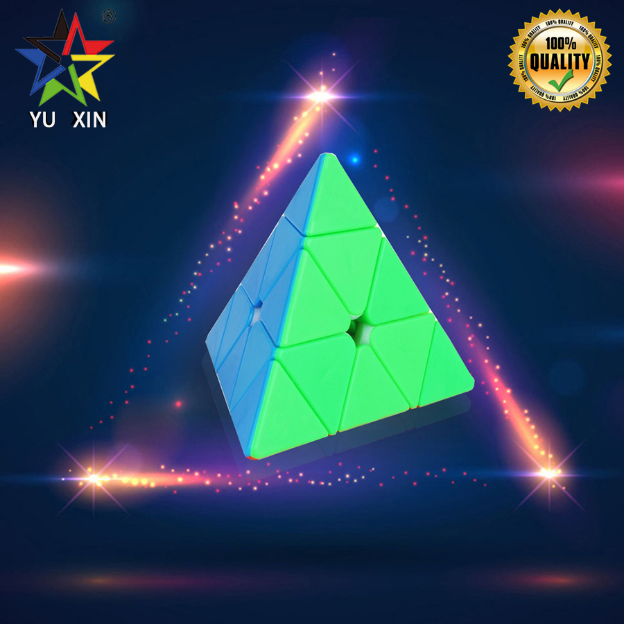 2019 YUXIN Magic Cube 3*3 PYRAMID Triangle Speed Cube Professional Magico Cubo Puzzles Colorful Educational Toys For Children2019 YUXIN Magic Cube 3*3 PYRAMID Triangle Speed Cube Professional Magico Cubo Puzzles Colorful Educational Toys For Children