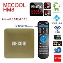 MECOOL HM8 TV Box Amlogic S905X Quad Core 64 Peu Android 6.0 Kodi 17.0 VP9 Profil Smart Mini PC 1 GB + 8 GB 4 K TV Set Top Box wifi