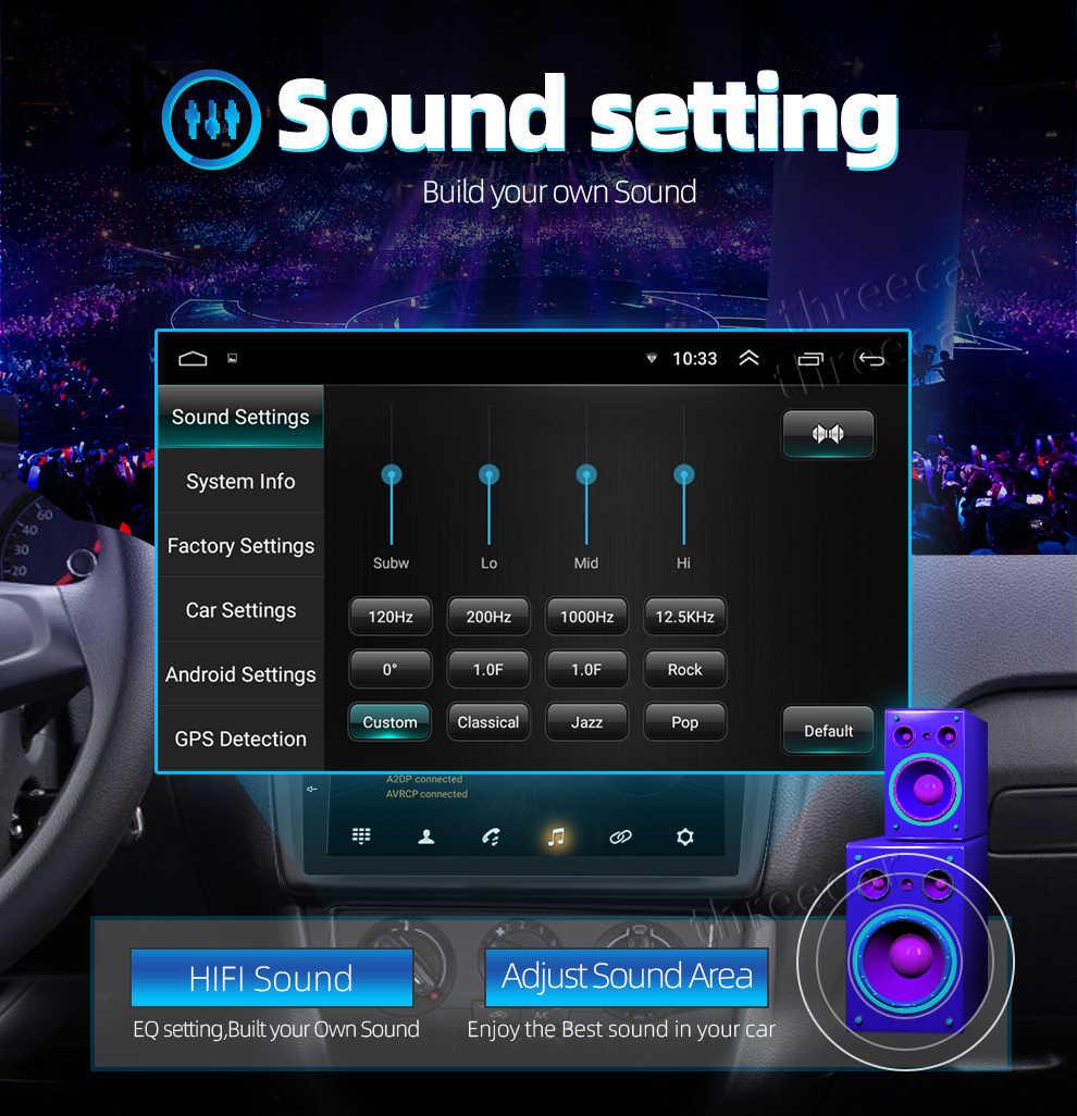 9/10 インチのアンドロイドのタッチスクリーン 2Din カーラジオ GPS マルチメディア Autoradio ナビゲーション Wifi Bluetooth 2 din Android のカーラジオ